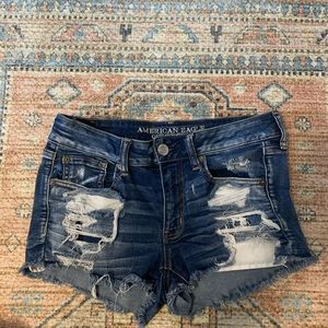 American eagle Shorty super stretched ripped short
